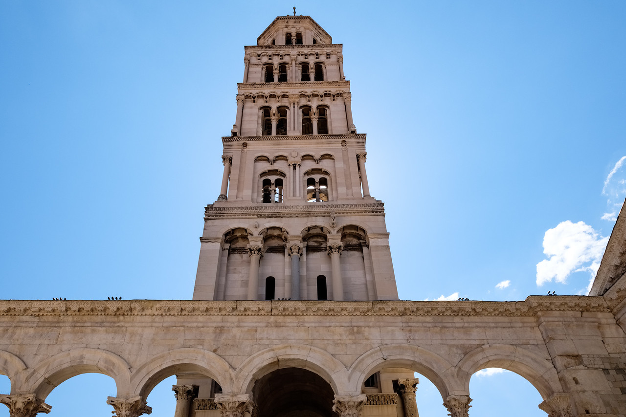 Cathedral tower in Diocletian's Palace