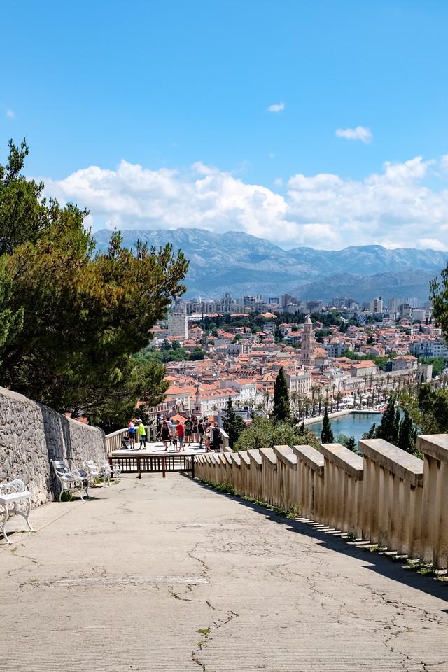 Looking back towards Split from Marjon