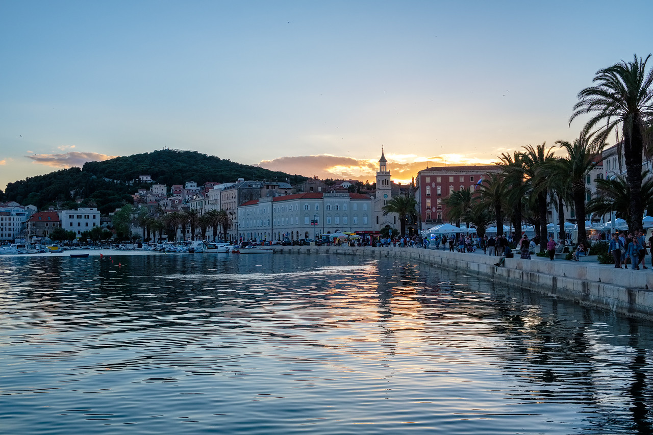 Sunset from Split Harbor