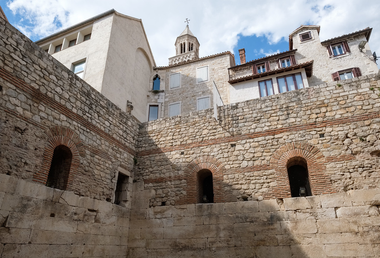 Looking up from the basement of Diocletian's Palace