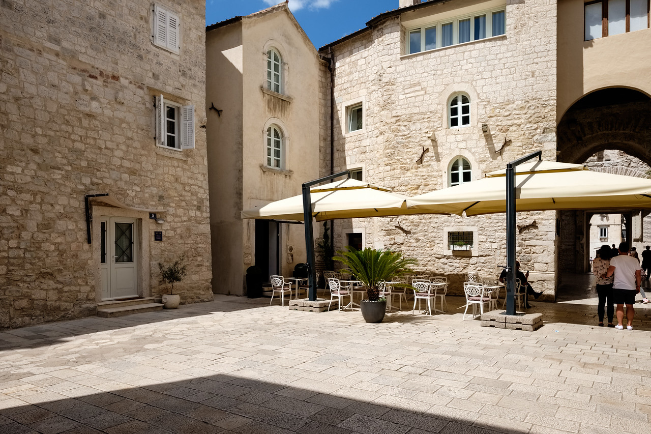 Our hotel and its courtyard