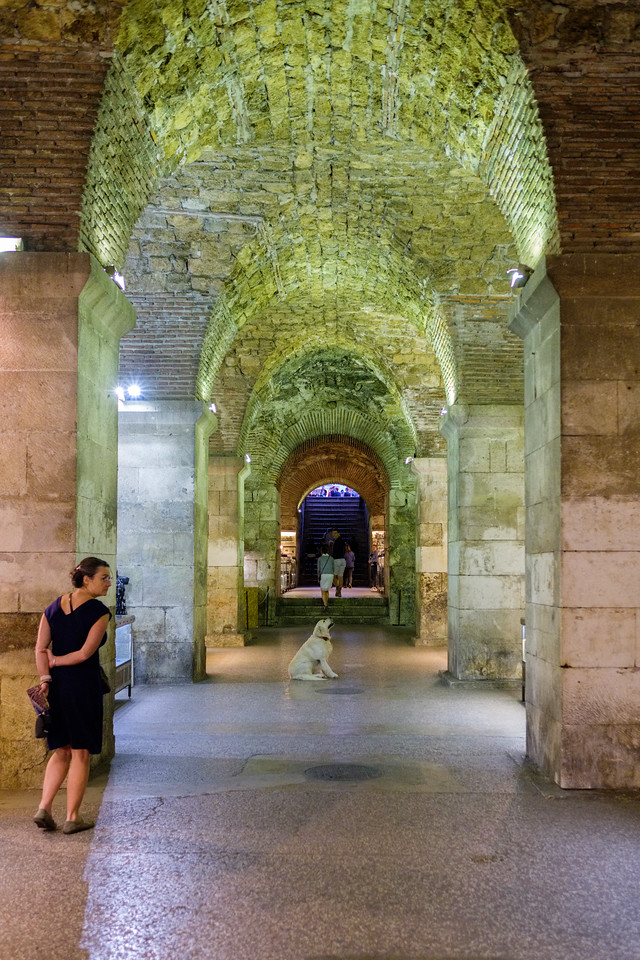 A market passage in the basement of Diocletian's Palace