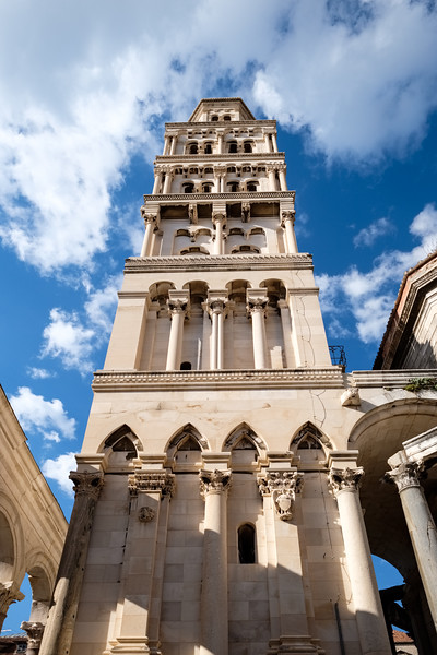 Cathedral and tower in Diocletian's Palace