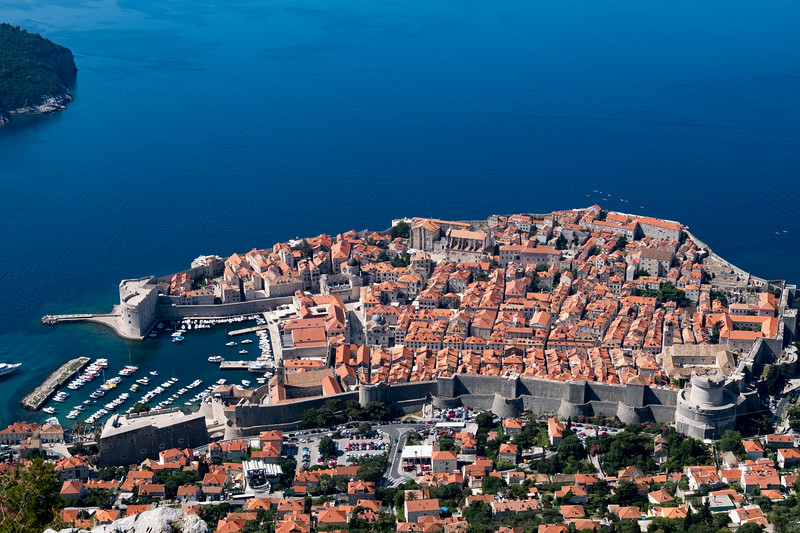Old Dubrovnik from above