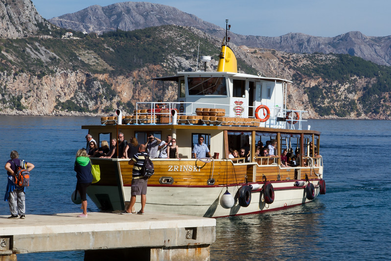 The ferry boat back to Dubrovnik