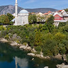 The Koski Mehmed Pasha Mosque reflecting in the Neretva river