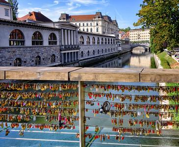 Love Locks on the Butcher's Bridge, Ljubjana