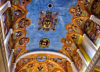 Ceiling detail, Chapel of St George, Ljubjana Castle