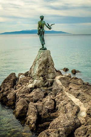 The Girl with the Seagull statue, Opatija