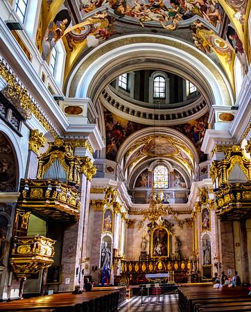 Interior of St Nicolas Church, Ljubljana