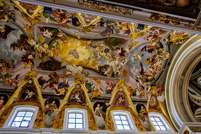 Ceiling detail, St Nicolas Church, Ljubljana
