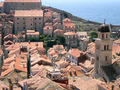 the walled city of Dubrovnik, south of Drvenik.