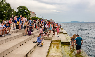 On the sea organ, Zadar