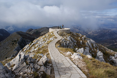 In the middle of Lovcen National Park is the mausoleum of Montenegrin ruler and poet Petar II Petrovic Njegosm.  The memorial sits on one of the highest peaks in all of Montenegro and offers a 360 degree view of Lovcen National Park.