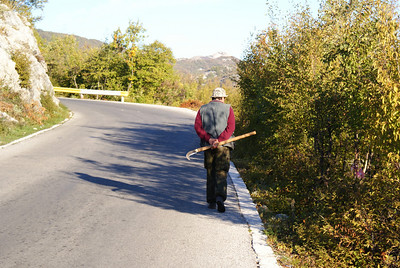 …and then some guy with a sickle walks by out of nowhere.  Only in Montenegro…...or have you seen a guy with a sickle walk past you lately?