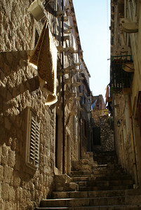 The old city is not very large, but you can get lost among the alleys.  Here's a hard-to-find-your-way-out-of spot.