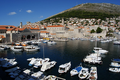 Dubrovnik harbor.