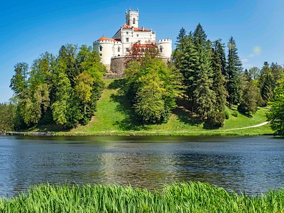 Trakoscan Castle near Zagreb ...private lake and lush grounds
