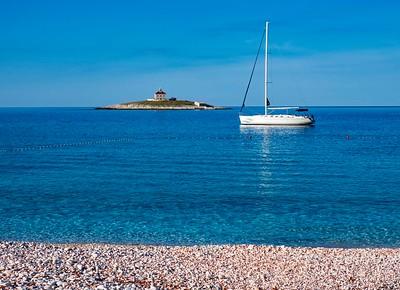 Hvar rocky beach....tranquility on a gorgeous day