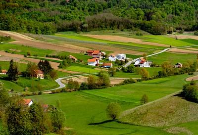 Rich farmlands outside of Zagreb.