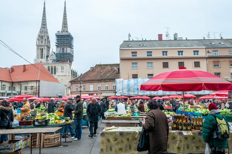 Walk around Zagreb Croatia