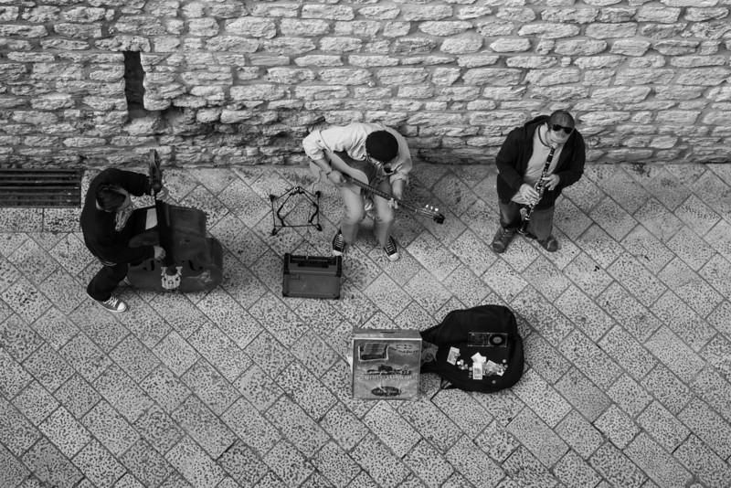 Looking down on jazz, Dubrovnik, Croatia
