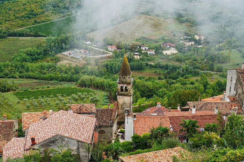 Motovun Hill Town Overlook