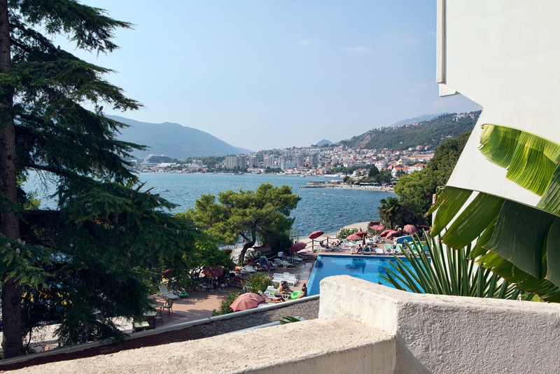 Herceg Novi and the Bay of Kotor, Montenegro, from our hotel.