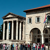 Pula - Town Hall and Temple of Augustas