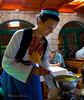 Waitress in Croatia