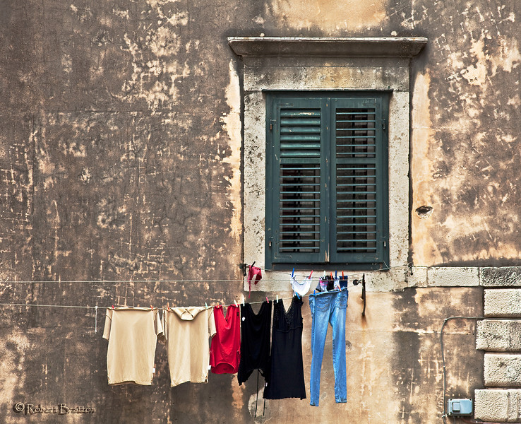 Clothes Dryer Typical of Croatia and Italy