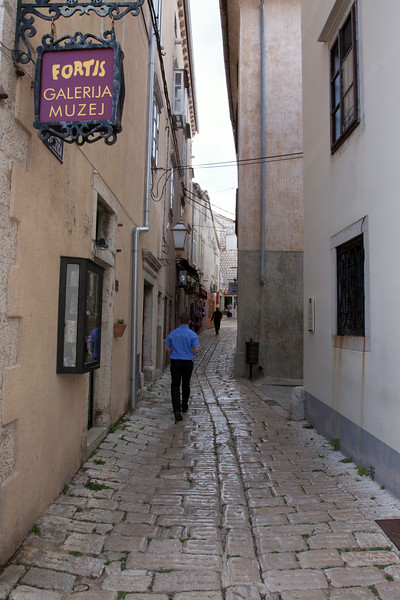 People have been walking the streets if Krk for many centuries. The stones are polished smooth from the footsteps.