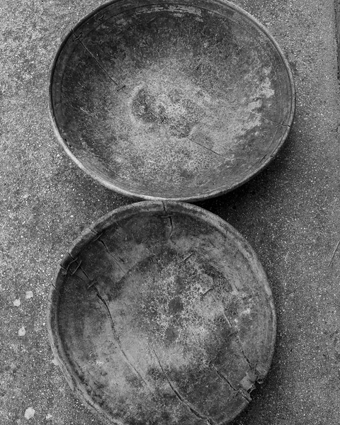 Old wooden bowls found in the barn. These were commonly used for Olives.