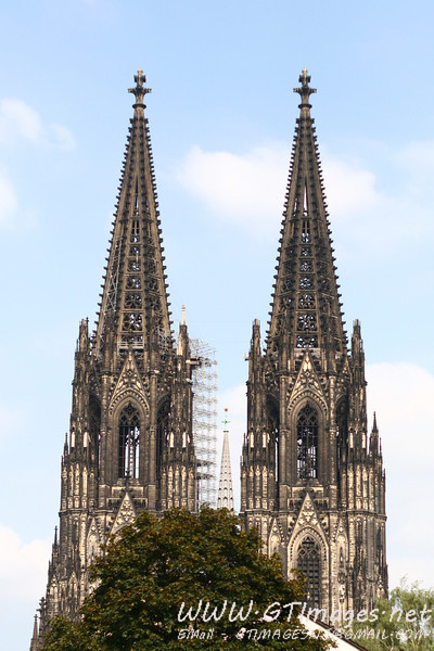 On the return trip, we spend two days in Cologne, Germany. This is a photo of the Cathedral spires from a distance. The cornerstone was laid in 1248. It was not completed until the 1880 - over 600 years to build.