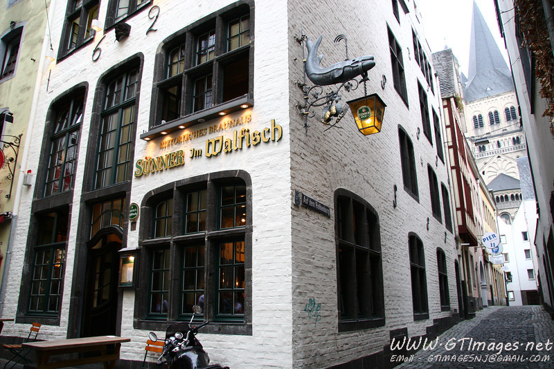 A bierhalle in the old section of town, dating back to 1626. The regional beer of Cologne is Kolsh Bier.