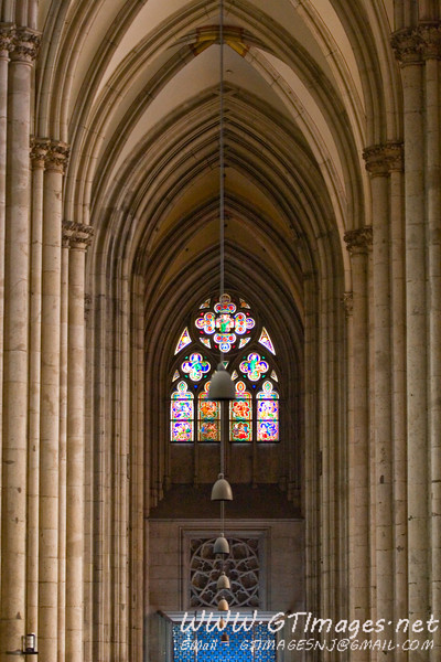This is possibly my favorite photograph of the trip. Cathedral interior, looking from the alter towards the front.