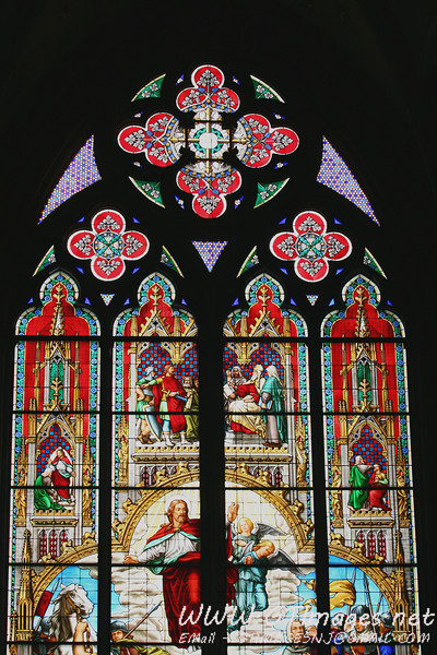 One of the incredible stained glass windows.