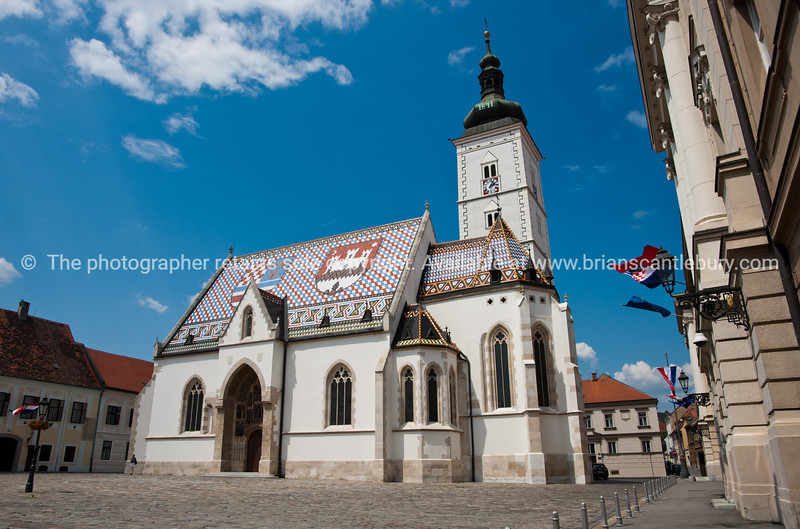 """Croatia, """"Heaven on Earth"""", Saint Marks church, in Gradec or Old City, Zagreb. SEE ALSO:  <a href=""""http://www.blurb.com/b/2340783-croatia"""">http://www.blurb.com/b/2340783-croatia</a>"""