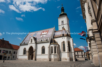 "Croatia, ""Heaven on Earth"", Saint Marks church, in Gradec or Old City, Zagreb. SEE ALSO: www.blurb.com/b/2340783-croatia"