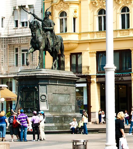"Croatia, ""Heaven on Earth"",  The Statue of Ban Josip Jelačić, Zagreb. SEE ALSO:  <a href=""http://www.blurb.com/b/2340783-croatia"">http://www.blurb.com/b/2340783-croatia</a>"