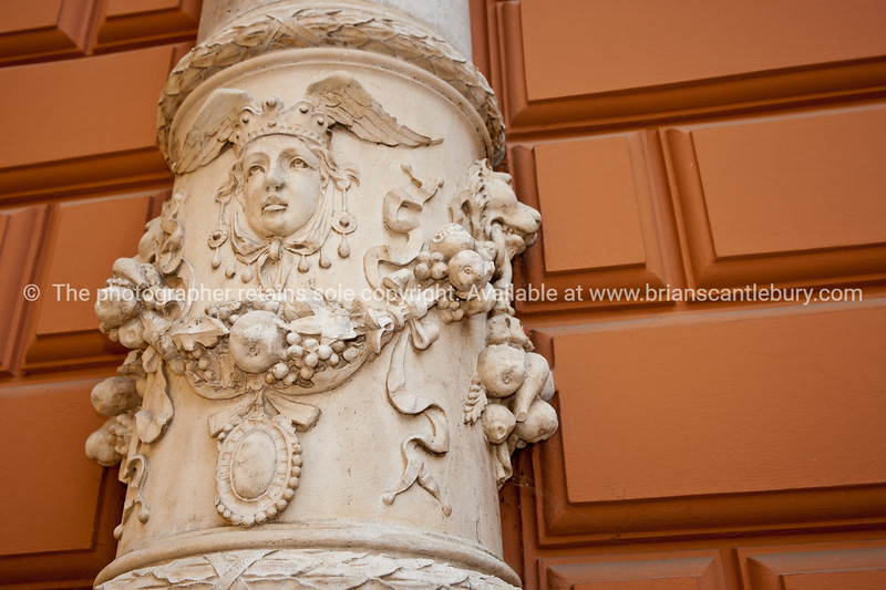 "Croatia, ""Heaven on Earth"", ornate decoration on exterior of Baptist Church, Zagreb. SEE ALSO:  <a href=""http://www.blurb.com/b/2340783-croatia"">http://www.blurb.com/b/2340783-croatia</a>"