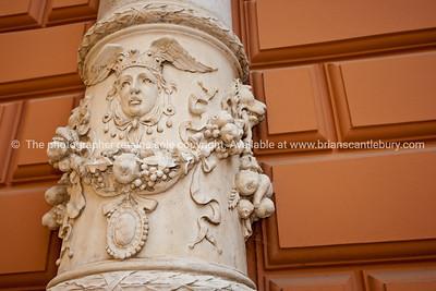 "Croatia, ""Heaven on Earth"", ornate decoration on exterior of Baptist Church, Zagreb. SEE ALSO: www.blurb.com/b/2340783-croatia"