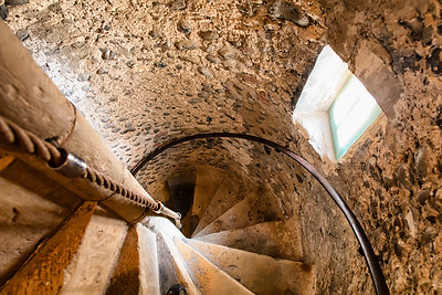 Church tower stairs