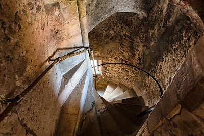 Church tower stairs