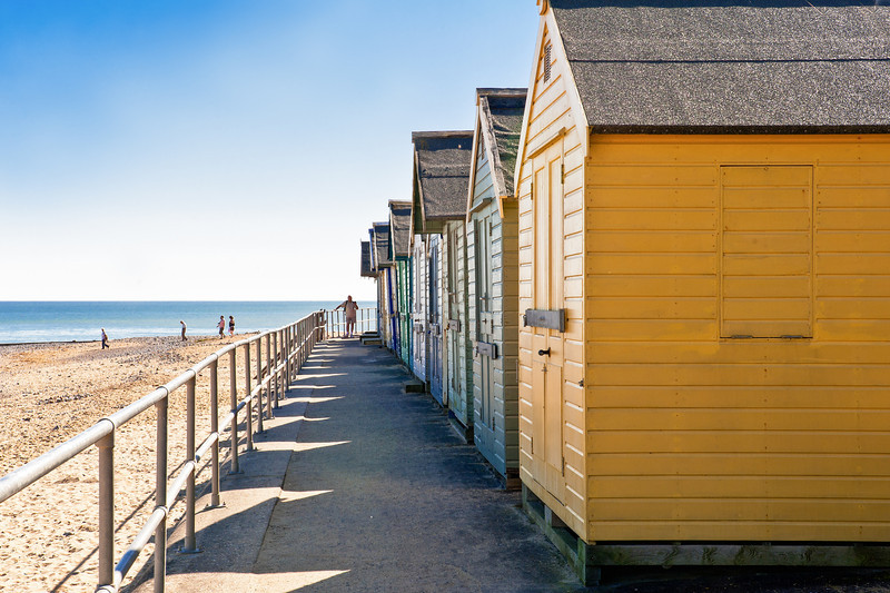 Cromer Beach huts in perspective...