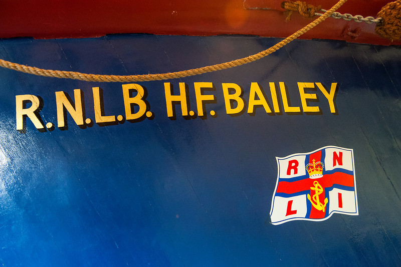 RNLB H.F. Bailey 111 (ON777) is preserved in the Henry Blogg Lifeboat Museum and is registered in the British National Registry of Historic Ships. This boat was made famous as 'she' was used by Henry Blogg and his crew to perform many famous life saving exploits between 1935-1945.