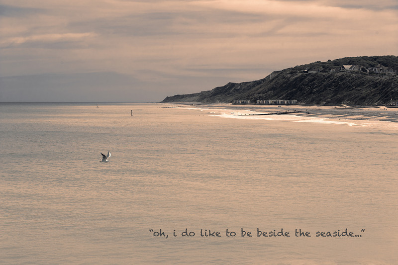 """""""oh, I do like to be beside the seaside."""""""