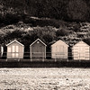 Monochrome Cromer Beach Huts