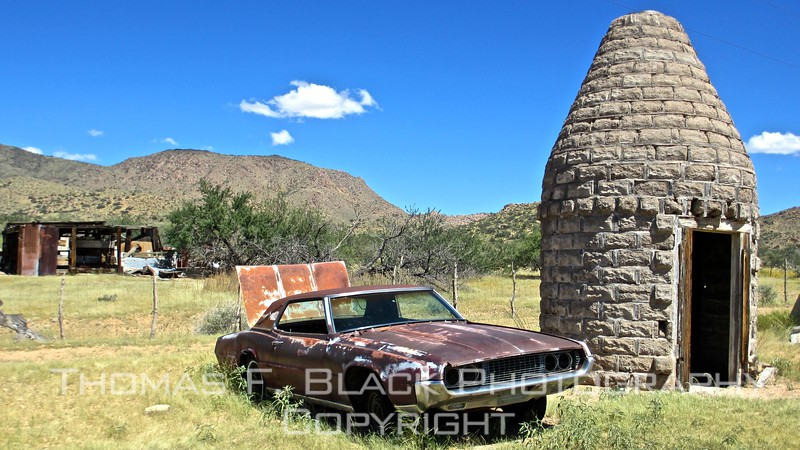 1967 ford thunderbird with low bluebook value. beehive-like structure was nose cone used as prop in jetsons tv show.