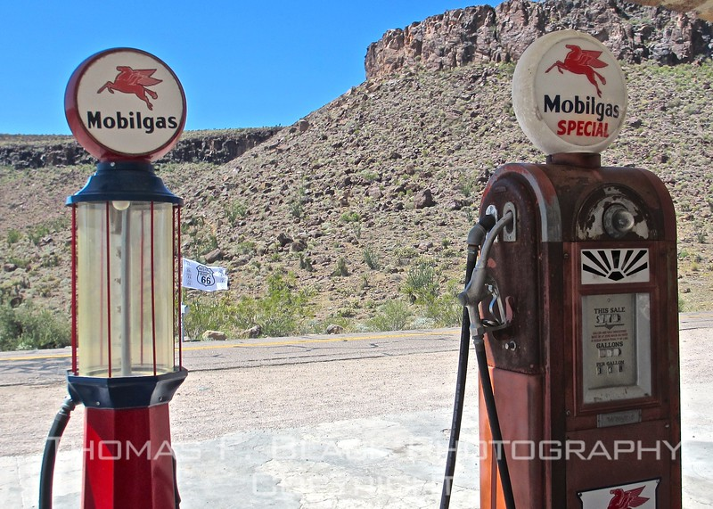like museum itself, paleolithic fuel pumps outside museum are photo-op landmark. couldn't resist.